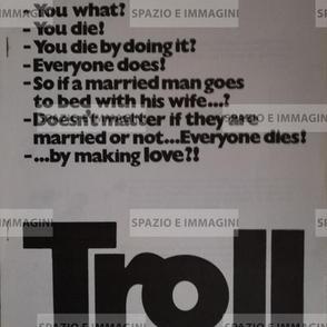 TROLL, directed by Vilgot Sjoman, ( SW), 1971. Film brochure ( pp.3) cm. 21x30 ( closed) cm. 42x30 ( open).