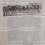 A UN ANNO DAL GOLPE IN CILE. Volantino ciclostilato con immagine fotografica cm. 22x33, s.l e s.d. ma 11-9-1973.