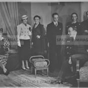 Ruggero Ruggeri and his troupe on set, 1937.