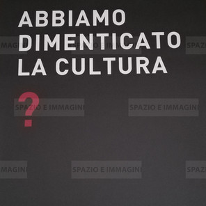 Alfredo Jaar, Abbiamo dimenticato la cultura?, 2008. Manifesto cm. 100x70. Offset print on paper.