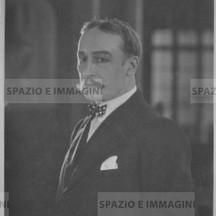 Ruggero Ruggeri's portrait with mustache, 30s-40s.