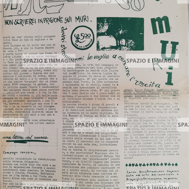A/traverso, 1977. Foglio Creativo, printed in green and pink ink, cm. 44x32,2.