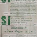 """SI' ALLA LIBERAZIONE DI MAURO E FAUSTO E DEI COMPAGNI ARRESTATI PER LA MONTATURA DELLA CELLULA """"PERFUGHESE"""" (...). Volantino ciclostilato cm. 17,5x25 stampato con inchiostratura verde secondo i modelli del '77 bolognese a cura di Lotta Continua, Terron Power, Collettivo Contr. Sarda. C.I.P. in via Avesella 5/b, s.l. ma Bologna, 30-5-78."""