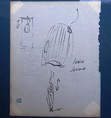 Ugo La Pietra, Casco Sonoro, drawing 1968, Radical Architecture, Immersion, Audiovisual Environment