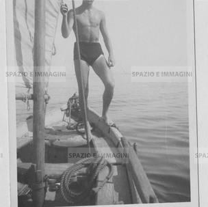 Sailor man. Original vintage print, 30s. Gelatin silver print on baryta paper cm. 9x14. Found photo.