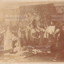 Bologna countryside, Tableaux Vivant, untitled, undate but presumibly 1897. Double albumen print recto, verso applied on cardboard cm.25x17. Unknown photographer.