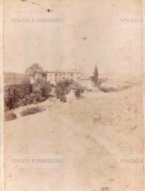 "Bologna countryside,""Il Castello"",  1897.  Albumen print on cardboard cm. 25x17.  Unknown photographer"