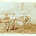 "Bologna countriside, Tableaux Vivant "" Contrabbando"", 30 maggio 1897. Albumen print on cardboard cm. 25x17. Unknown photographer."