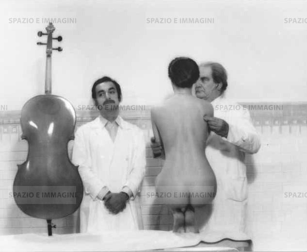 Laura Antonelli in Il Merlo Maschio, 1971. Original vintage print by Mario Mazzoni. Gelatin silver print on baryta paper cm. 18x24.