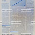 A/traverso, Giornale per l'Autonimia, Febbraio 1977.  Supplemento a R. Alice. Foglio Creativo printed in blue ink, cm. 31x44.