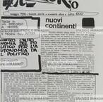 A/traverso, Maggio 1978, nuova serie, numero due. Foglio Creativo, printed in black ink, cm. 23x33,5 pp. 16.
