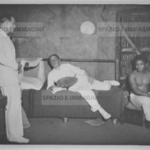 Ruggero Ruggeri and Tino Erler on set , 1934.