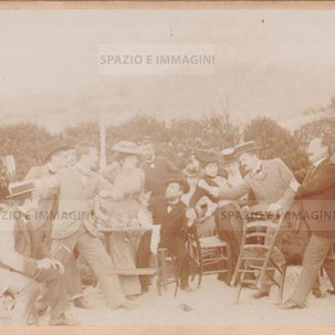 "Bologna countryside, Tableau Vivant "" Una Lite"", aprile 1899. Albumen print on cardboard cm. 25x17. Unknown photographer."