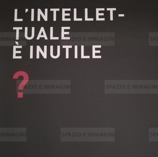 Alfredo Jaar, L'intellettuale è inutile?, 2008. Manifesto cm. 100x70. Offset print on paper.