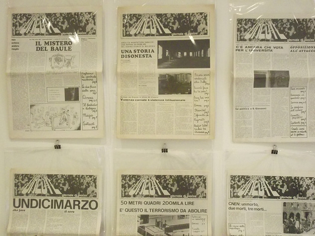 Exhibition Prima di Scomparire. Grafica, Immagini, Ephemera '60-'70, 2018