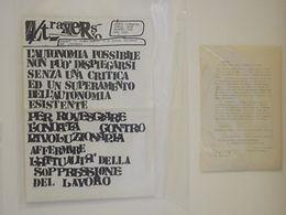 Foglio creativo A/traverso del movimento del 77 Bologna, Anni di Piombo, Radio Alice, Claudio Cappi.