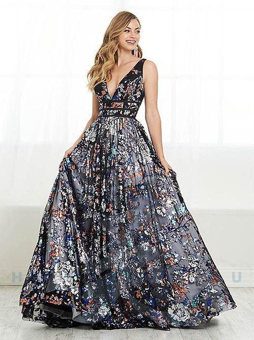 Tiffany Designs 16440 Black Multi/White