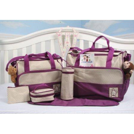 Animals Diaper Bag Tote, Lavender Puppy