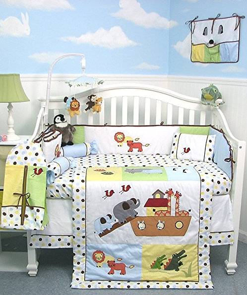 Crib Bedding Set, Noah's Ark, 10 Piece Set