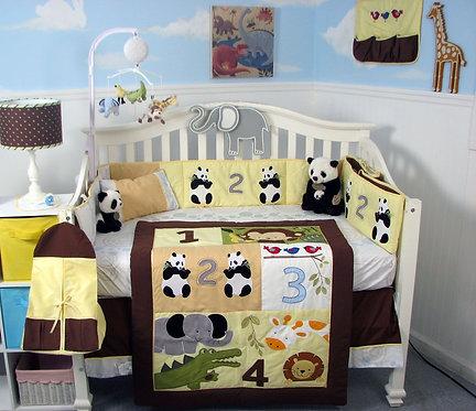 Crib Bedding Set, Counting Jungle Animals