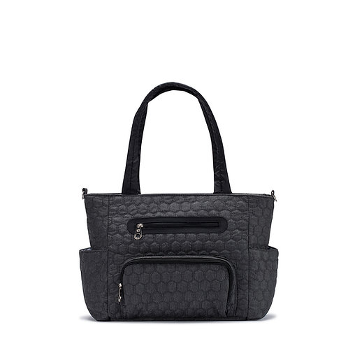 Grand Central Station Diaper Bag Tote, Dark Gray