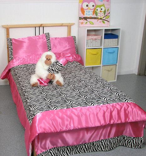 Twin Size Hot Pink Zebra