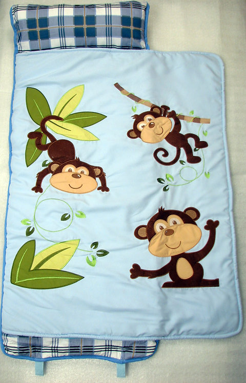 Nap Mat, Playful Monkey, Blue