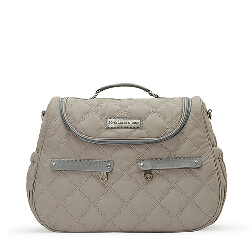 Classic Bedford Diaper Bag Tote, Gray