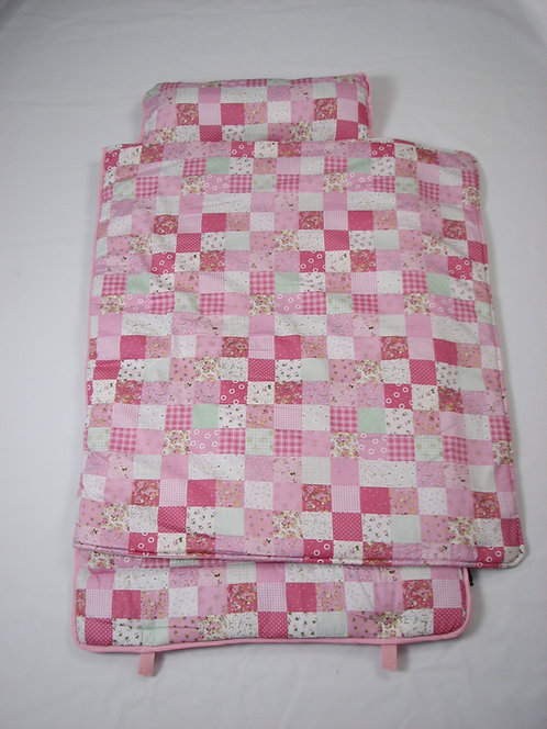Extra Roomy Nap Mat, Classic Floral Cottage, Pink