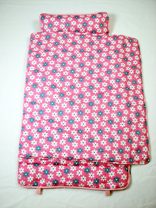 Extra Roomy Nap Mat, Pink Flowers