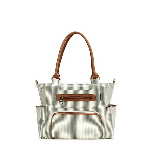 Grand Central Station Diaper Bag Tote, Stripe