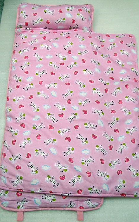 Nap Mat, Pink Zebra Hearts