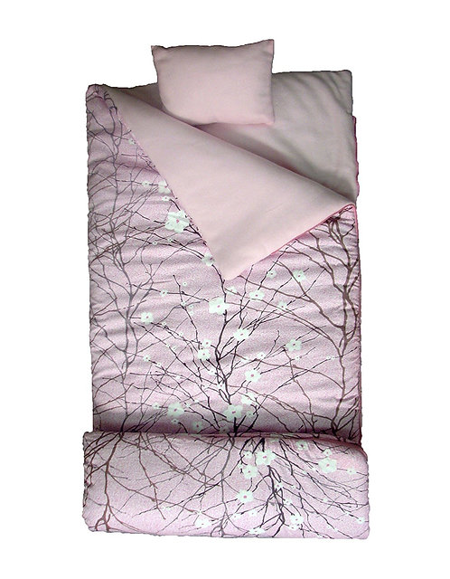 Sleeping Bag, Cherry Blossoms, Pink