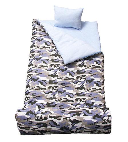 Sleeping Bag, Blue Camouflage, Army