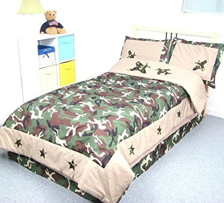 Camouflage Army Boy Twin Kids Childrens Bedding Set 5