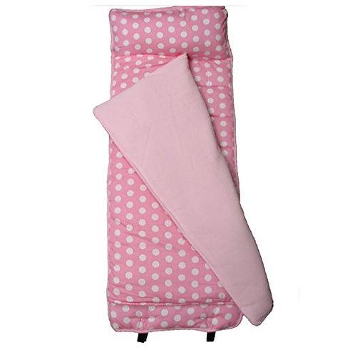 Nap Mat, Pink and Small White Polka Dot