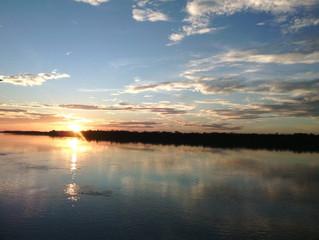 Passeio de barco no rio Branco e Água Boa (sentido Norte) - 12 de abril