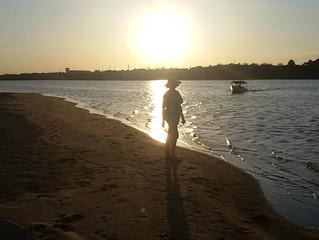 Passeio de barco Pôr-do-sol no rio Branco