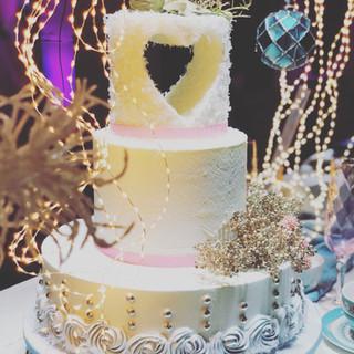 Winter-Wonderland Hochzeitstorte