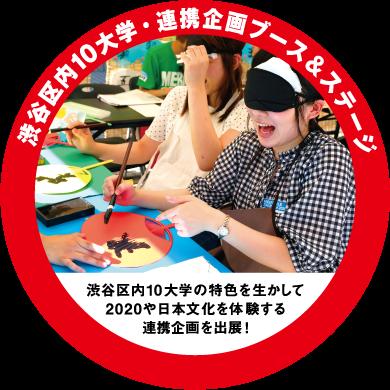 渋谷区内10大学連携企画ブース&ステージ