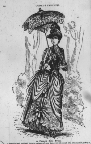 A French fête dress made from ecru lace and surah silk.