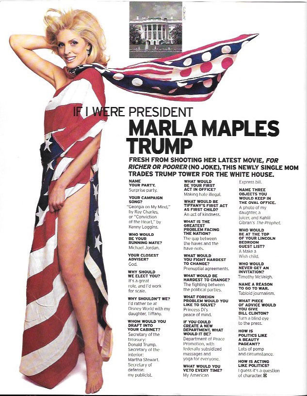 MARLA MAPLES, IF I WERE PRESIDENT
