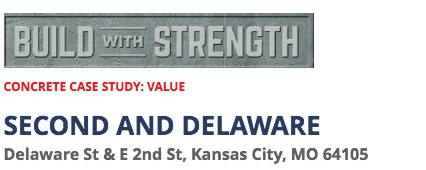 Second & Delaware Building Concrete Study by Build With Strength