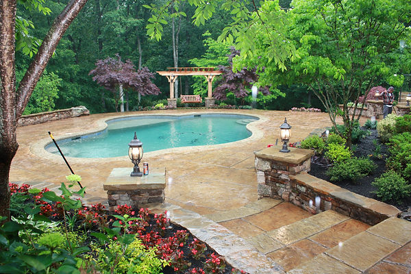 Best Finishing - Residential Decorative Exterior   The Greenway Project        Memphis Ready Mix      Baltz & Sons Concrete      Peaceful Settings      Serenity Hardscapes