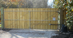 Wood Privacy Gate Inside