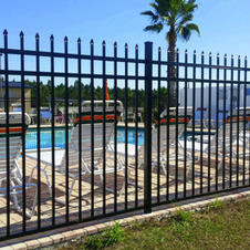 """6' Black """"Abigail"""" Commercial Aluminum by White Fence Company"""