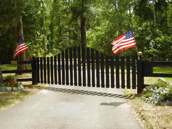 Black Wood and Steel Gate