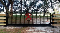 Black Single Swing Gate