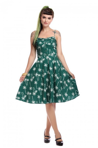 638fd8fb0051 Collectif Fairy Vintage Palm Dress Green