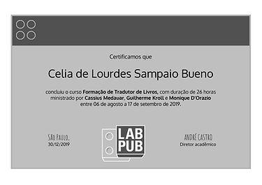 Certificado Formação de Tradutores LABPU